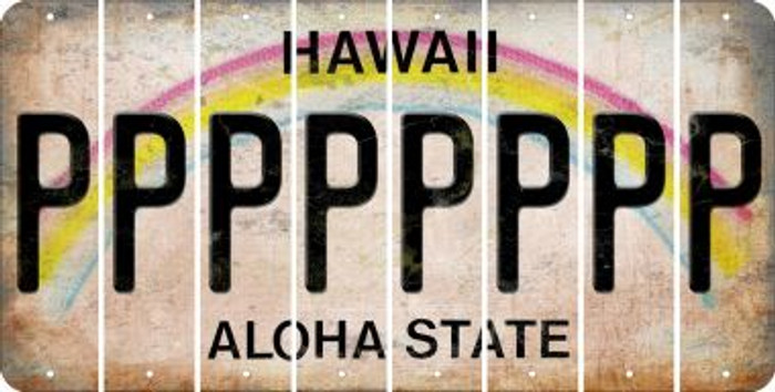 Hawaii P Cut License Plate Strips (Set of 8) LPS-HI1-016