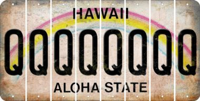 Hawaii Q Cut License Plate Strips (Set of 8) LPS-HI1-017