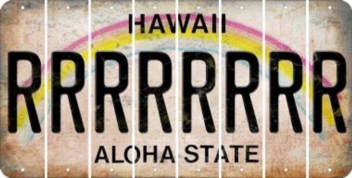Hawaii R Cut License Plate Strips (Set of 8) LPS-HI1-018