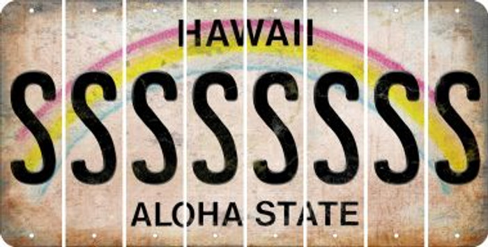 Hawaii S Cut License Plate Strips (Set of 8) LPS-HI1-019