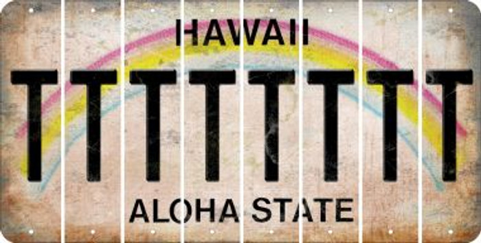 Hawaii T Cut License Plate Strips (Set of 8) LPS-HI1-020