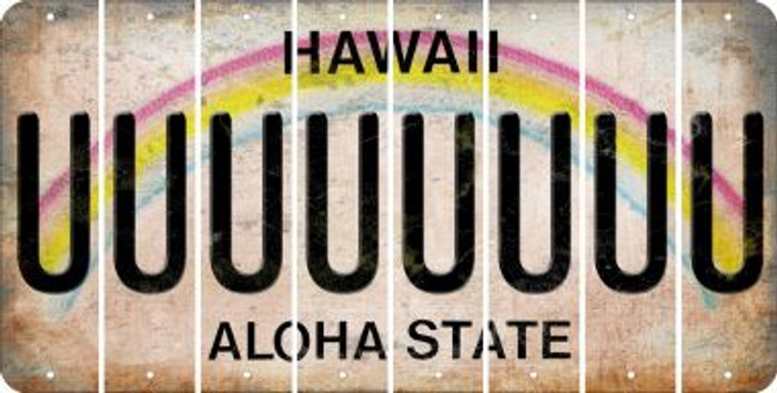 Hawaii U Cut License Plate Strips (Set of 8) LPS-HI1-021