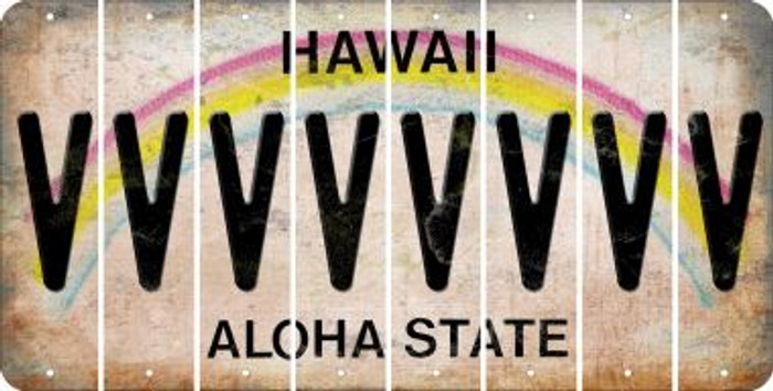 Hawaii V Cut License Plate Strips (Set of 8) LPS-HI1-022