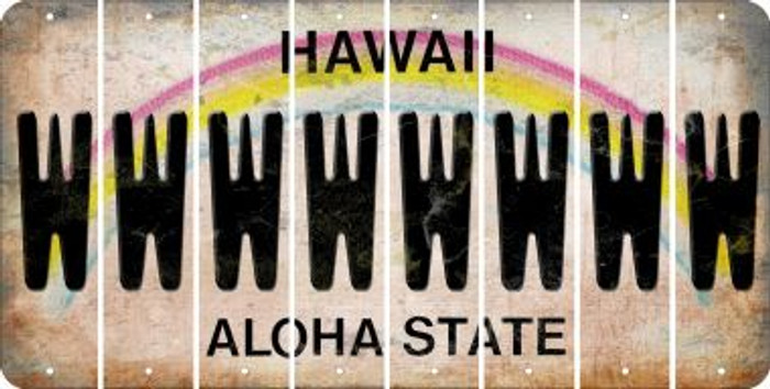 Hawaii W Cut License Plate Strips (Set of 8) LPS-HI1-023