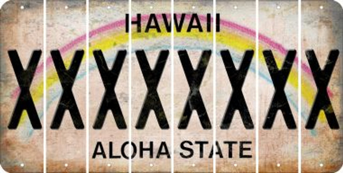 Hawaii X Cut License Plate Strips (Set of 8) LPS-HI1-024