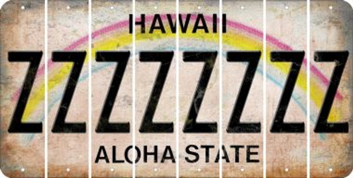 Hawaii Z Cut License Plate Strips (Set of 8) LPS-HI1-026