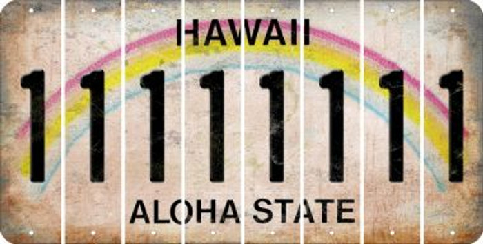 Hawaii 1 Cut License Plate Strips (Set of 8) LPS-HI1-028