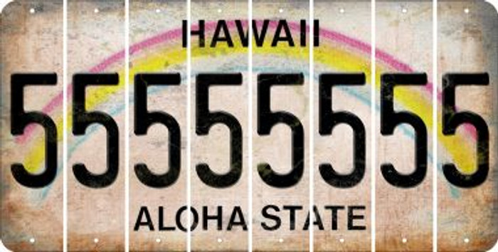 Hawaii 5 Cut License Plate Strips (Set of 8) LPS-HI1-032