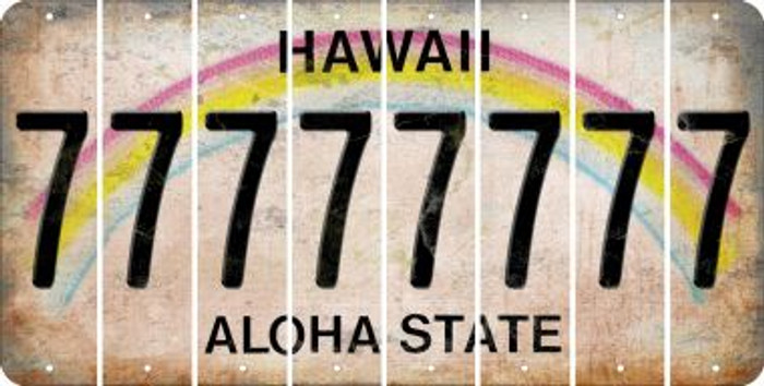 Hawaii 7 Cut License Plate Strips (Set of 8) LPS-HI1-034