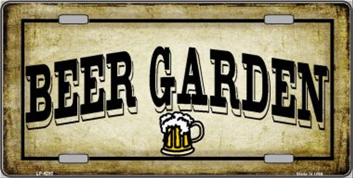 Beer Garden Wholesale Metal Novelty License Plate LP-4285