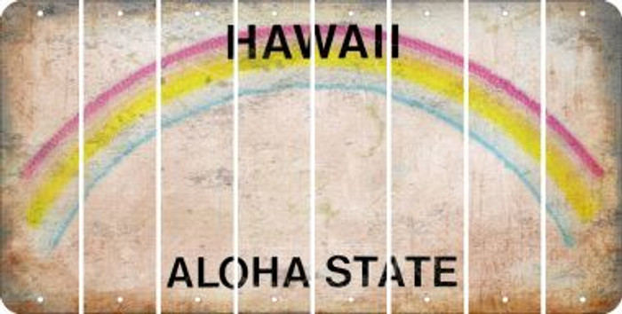Hawaii BLANK Cut License Plate Strips (Set of 8) LPS-HI1-037