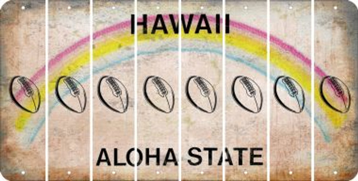 Hawaii FOOTBALL Cut License Plate Strips (Set of 8) LPS-HI1-060