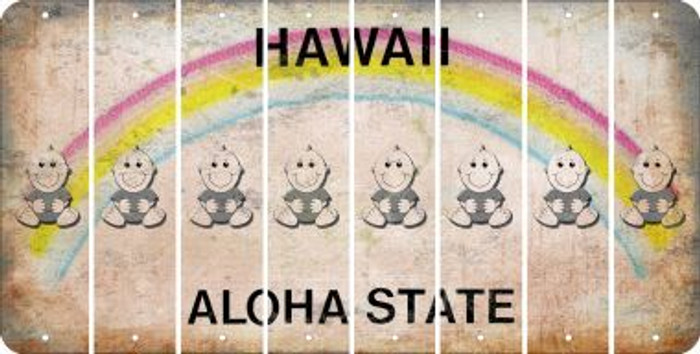 Hawaii BABY BOY Cut License Plate Strips (Set of 8) LPS-HI1-066