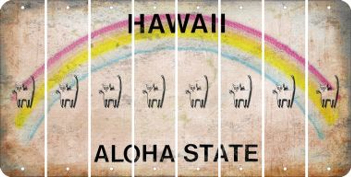 Hawaii CAT Cut License Plate Strips (Set of 8) LPS-HI1-072