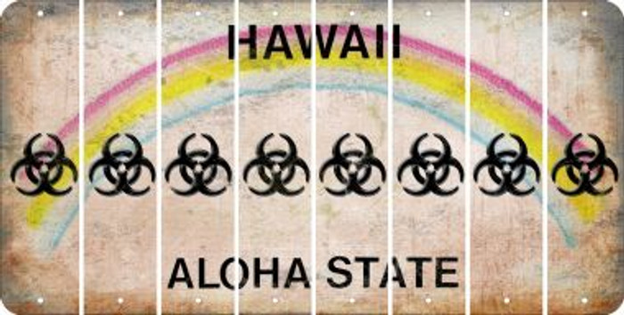 Hawaii BIO HAZARD Cut License Plate Strips (Set of 8) LPS-HI1-084