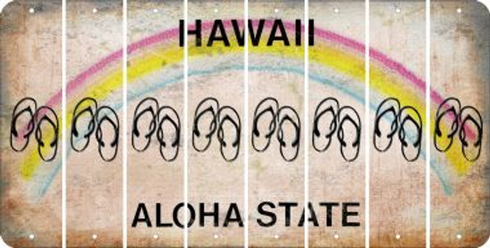 Hawaii FLIP FLOPS Cut License Plate Strips (Set of 8) LPS-HI1-085