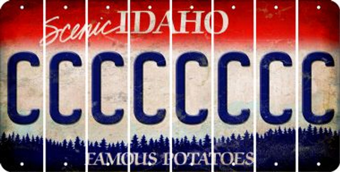 Idaho C Cut License Plate Strips (Set of 8) LPS-ID1-003