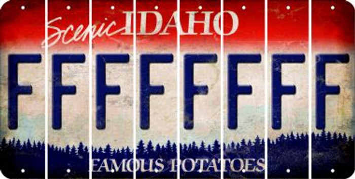 Idaho F Cut License Plate Strips (Set of 8) LPS-ID1-006