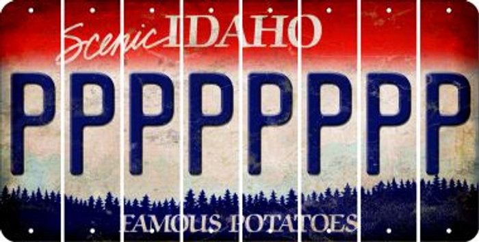 Idaho P Cut License Plate Strips (Set of 8) LPS-ID1-016