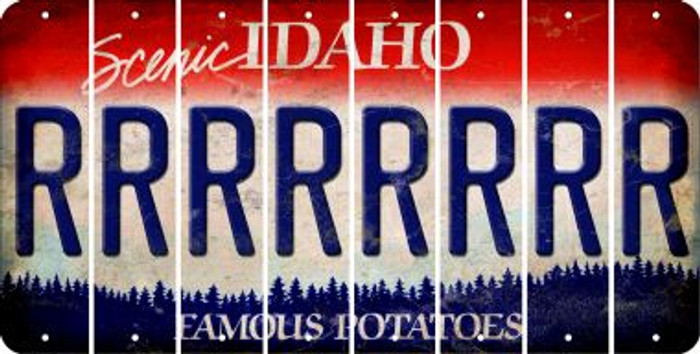 Idaho R Cut License Plate Strips (Set of 8) LPS-ID1-018