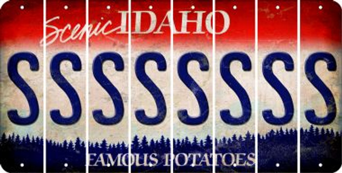 Idaho S Cut License Plate Strips (Set of 8) LPS-ID1-019
