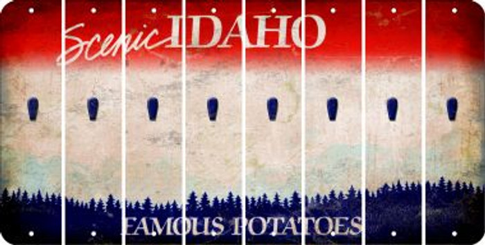 Idaho APOSTROPHE Cut License Plate Strips (Set of 8) LPS-ID1-038
