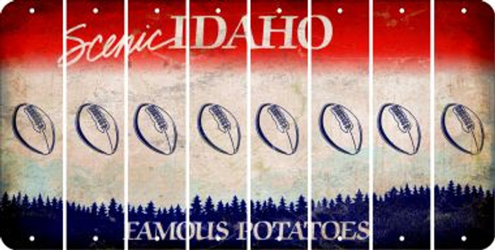 Idaho FOOTBALL Cut License Plate Strips (Set of 8) LPS-ID1-060