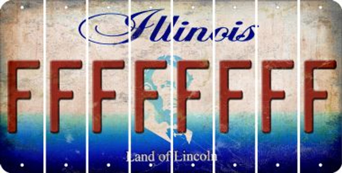 Illinois F Cut License Plate Strips (Set of 8) LPS-IL1-006