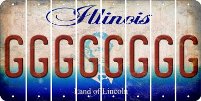 Illinois G Cut License Plate Strips (Set of 8) LPS-IL1-007