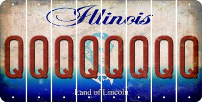 Illinois Q Cut License Plate Strips (Set of 8) LPS-IL1-017