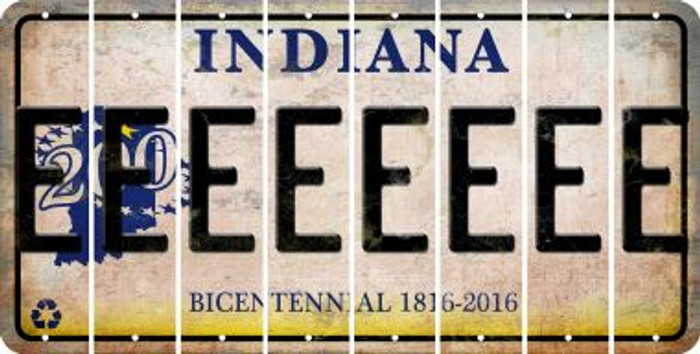 Indiana E Cut License Plate Strips (Set of 8) LPS-IN1-005