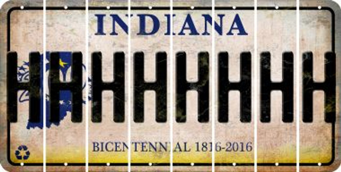 Indiana H Cut License Plate Strips (Set of 8) LPS-IN1-008