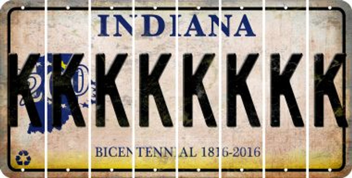 Indiana K Cut License Plate Strips (Set of 8) LPS-IN1-011