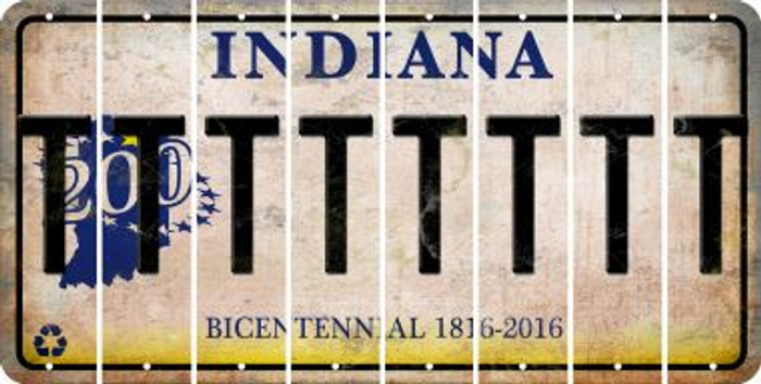 Indiana T Cut License Plate Strips (Set of 8) LPS-IN1-020