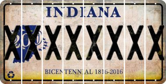 Indiana X Cut License Plate Strips (Set of 8) LPS-IN1-024