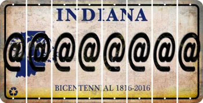 Indiana ASPERAND Cut License Plate Strips (Set of 8) LPS-IN1-039