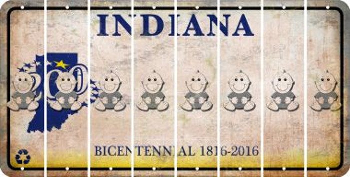 Indiana BABY BOY Cut License Plate Strips (Set of 8) LPS-IN1-066