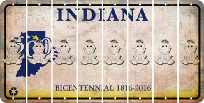Indiana BABY GIRL Cut License Plate Strips (Set of 8) LPS-IN1-067