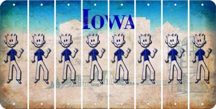 Iowa D Cut License Plate Strips (Set of 8) LPS-IA1-004