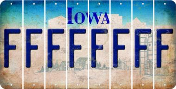 Iowa F Cut License Plate Strips (Set of 8) LPS-IA1-006
