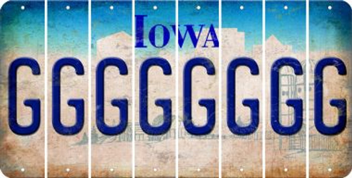 Iowa G Cut License Plate Strips (Set of 8) LPS-IA1-007