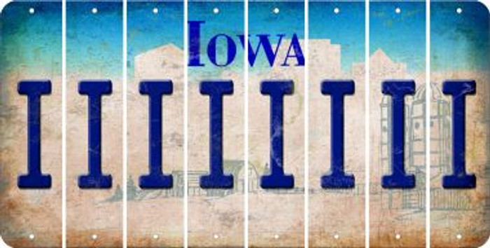 Iowa I Cut License Plate Strips (Set of 8) LPS-IA1-009