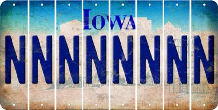 Iowa N Cut License Plate Strips (Set of 8) LPS-IA1-014