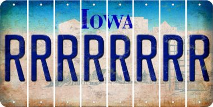 Iowa R Cut License Plate Strips (Set of 8) LPS-IA1-018