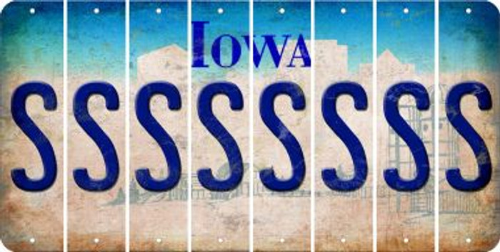Iowa S Cut License Plate Strips (Set of 8) LPS-IA1-019