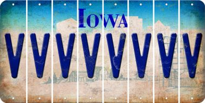 Iowa V Cut License Plate Strips (Set of 8) LPS-IA1-022