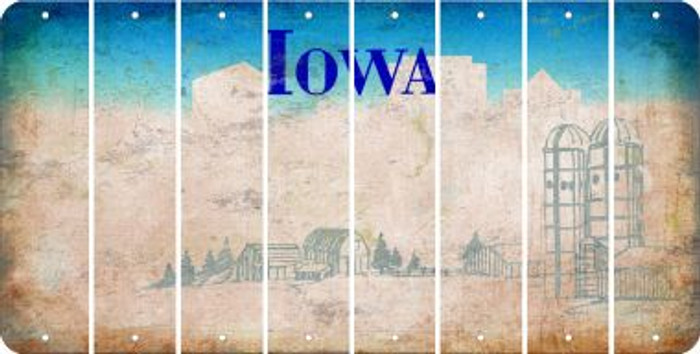 Iowa BLANK Cut License Plate Strips (Set of 8) LPS-IA1-037