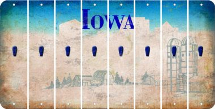 Iowa APOSTROPHE Cut License Plate Strips (Set of 8) LPS-IA1-038