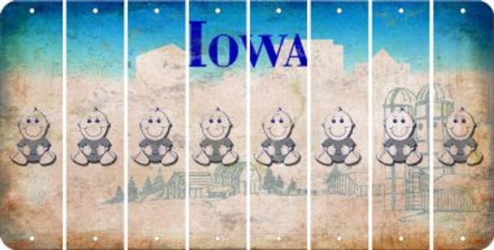 Iowa BABY BOY Cut License Plate Strips (Set of 8) LPS-IA1-066