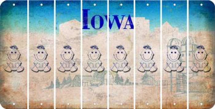 Iowa BABY GIRL Cut License Plate Strips (Set of 8) LPS-IA1-067